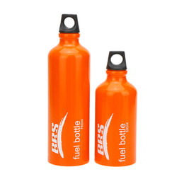 Wholesale Two Sizes of ml ml Outdoor Camping Petrol Bottle Kerosene Bottle Alcohol Liquid Gas Tank Fuel Bottle Storage Y0737