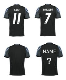 Wholesale Thailand Quality La Liga League Madrid Rd Black Soccer Football Jerseys Modric Ramos Ronaldo James Bale Benzema