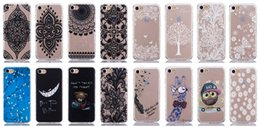 Wholesale For Galaxy Note7 Note S7 Edge A310 A510 J120 LG G5 Girl Cartoon Bear Smile Camouflage Flower Mandala Henna Soft TPU Case Wave Side Skins
