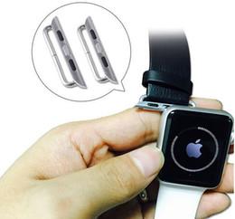 1: 1 Reloj banda adaptador de conector para Apple Watch banda 316L de acero inoxidable metal con tornillo correa de reloj (1 par 2 piezas) desde relojes de pulsera piezas fabricantes