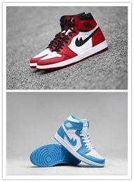 Wholesale Air dan Retro men women Basketball Shoes Chicago Carmine AJ1 unisex Athletic Shoes Eur