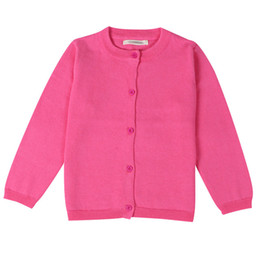 Wholesale Spring Autumn Boys Girls Cardigans Sweater Cotton Outwear Knit Cardigan Long Sleeve Sweaters for Baby Girls Clothes