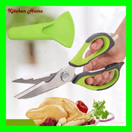 Wholesale Multi functional Stainless steel kitchen scissors poultry shears chicken bone fish scissors kitchen Accessories gadgets cooking tools