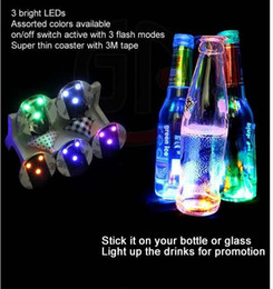 Wholesale Wedding table decoration light sticker led bottle sticker coaster Club And Bars Beer Party Decoration Christmas lamps
