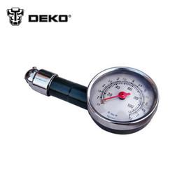Wholesale DEKO Auto Car Tire Pressure Gauge Can Be Deflated Meter Automobile Tyre Air Pressure gauge Pressure Tyre Measurement Tool