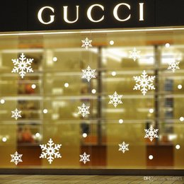 new wall sticker shop window glass backdrop wall stickers home decor snowflake Christmas decoration removable wall stickers