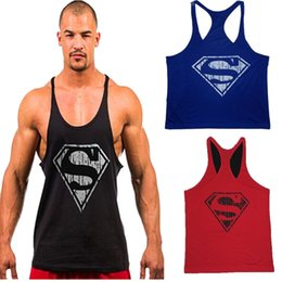 HOT Movie COS Super Hero Superman Cosplay Waistcoat Specialty Loose Fitness Cotton Muscutarity Vest Sexy TOP Sale