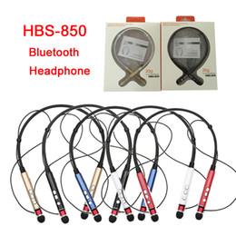 Promotion mains libres universel HBS850 Sport Bluetooth Casque HBS-850 Neckband Casque mains libres pour iPhone pour Samsung pour Bluetooth Device avec Retail Box DHL EAR183