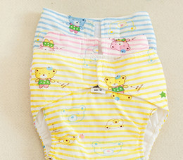 Cheap shipping washable baby cloth diapers leak-proof cotton baby diapers breathable waterproof pocket cartoon