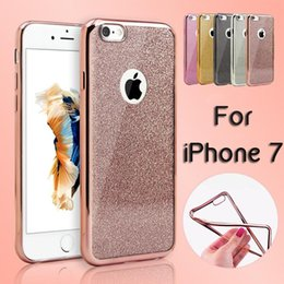 Wholesale Ultra Thin Clear Rubber Soft Case Glitter Plating Electroplating TPU Cover For iPhone Plus S SE S Samsung S7 S6 Edge Note