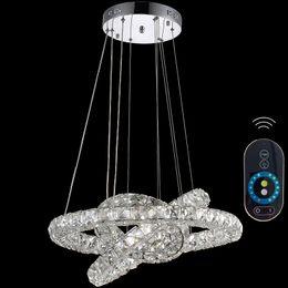 Wholesale Modern Crystal Indoor Lighting Chandeliers Pendant Light Indoor LED Lamps Fixtures with Rings CE FCC ROHS VALLKIN LIGHTING