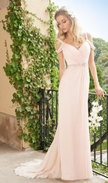 2016 Charming Pink Spaghetti Strap V-Neck Evening Dresses Chiffon Pleat Beaded Sashes Long Evening Gowns Formal vestido de festa