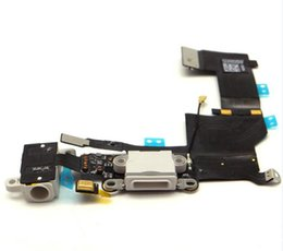 Wholesale Mix For iPhone S SP plus s c g s G G Original Dock Connector USB Charging Port and Headphone Audio Jack Flex Cable Ribbon Gray