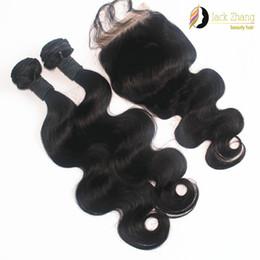 Body Wave Vietnamese Hair Bundles 1pc Lace Closure With 2pcs Same Length Hair Natural Color Unprocessed Human Hair Extension