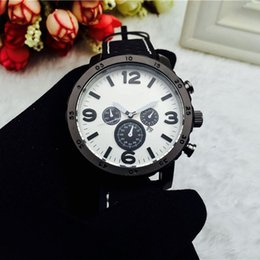 Wholesale 2016 New Fashion Big Dial Luxury Fashion Design Men Watch Leather Strap Quartz Watches Montre Clock Relogio Relojes De Marca Wristwatch