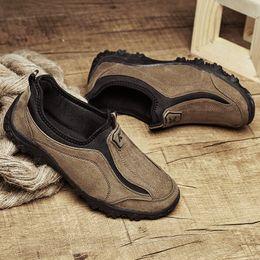 Acheter en ligne La conception de chaussures de couleur-KUAYANG 2016 Nouvelle conception Chaussures décontractées pour hommes de haute qualité Chaussures en daim bas en haut sur chaussures 4 couleurs