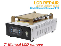 Wholesale 2016 pump inside universal Manual inch LCD Separator Machine heating board for lcd glass touch screen polarizer separating separate machine