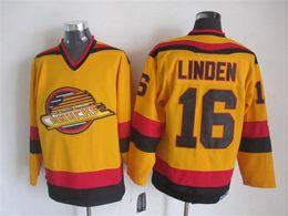 Vancouver Canucks 1985 Vintage KIRK MCLEAN PAVEL BURE Trevor Linden Yellow CCM Throwback Home Hockey Mens Jerseys