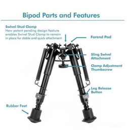 Wholesale Best selling Vector Optics Harris Style Bipod Mount Inch Levels w Weaver Mount Adapter Sling Connection