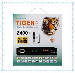 Wholesale Best HD Satellite Receiver Tiger Star Z400 blue star receiver Set Top Box wifi power adapter