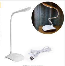 Wholesale Good working High Quality Adjustable intensity USB Rechargeable LED Desk Table Lamp Reading Light Touch Switch retail
