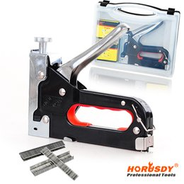 Wholesale HORUSDY Staple Gun Multifunction Nail Rapid Upholstery Hand Tacker Stapler Gun Set Way