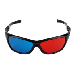 2015 New Universal 3D Plastic Glasses Black Frame Red Blue 3D Visoin Glass For Dimensional Anaglyph Movie Game DVD Video TV