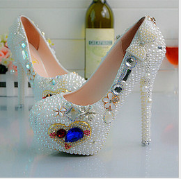 Diamond wedding shoes Haiyangzhixin Pearl crystal shoes bride wedding shoes dress women's shoes