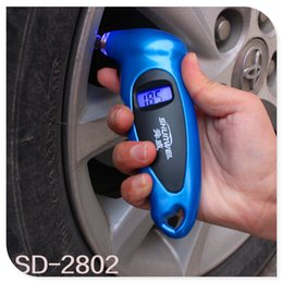 Wholesale SHUNWEI Tire Pressure Monitor Universal High Accuracy Digital LCD Display Auto Car Tire Pressure Gauge Motor Tyre Air Pressure meter