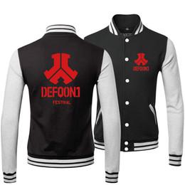Wholesale Fall New Hot Fashion Winter Clothing Hip Hop Coats Uniform Printed Defqon Punk Rock Band Sweatshirt Baseball Bomber Jacket Men