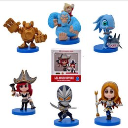 Wholesale 2016 For League of Legends ACTION FIGURE SET OF Blitzcrank NuNu Fizz MissFortune Lux Shen Good quality LOL Collectibles IN STOCK