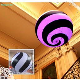 Custom 2m Swirl Inflatable Ball for Hall and Party Hanging Decoration