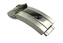 Alto acero inoxidable pulido en Línea-Hebilla de la venda de 16m m Cierre del despliegue Pulido de plata + cepillado Acero inoxidable de la alta calidad para el rolexwatch