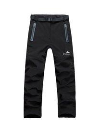 Wholesale Men Spring Autumn Winter Outdoor Pants Waterproof Windproof Trousers Warm Fleece Backer Soft shell Pants