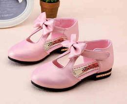 Wholesale 016 chun xia qiu han edition bowknot children sandals baotou single shoes women s shoes fashion leather shoes