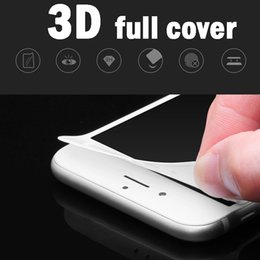 Wholesale Soft Glass Wholesale - For iphone7   6S 7plus and tempered glass 3D surface soft carbon fiber side screen protective film soft edge high quality not broken edge