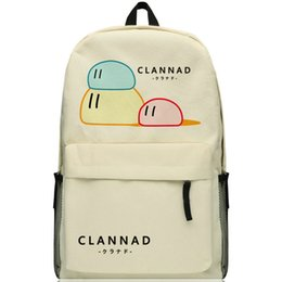 Clannad backpack Dumpling food school bag Free shipping Unique popular day pack Hot sale game daypack