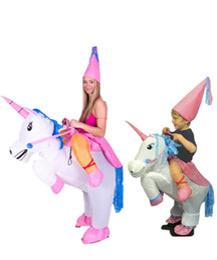 Wholesale Adult Kids Size Animal Themed Cosplay Inflatable Unicorn Pegasus Costume Halloween Costumes for Women