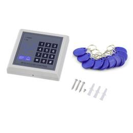 Rfid clave cerraduras de las puertas en Línea-DC 12V Electrónica RFID Proximidad Entrada Puerta Cerradura Sistema de Control de Acceso con 10 Llaveros Sistema de Seguridad para Oficinas en el Hogar