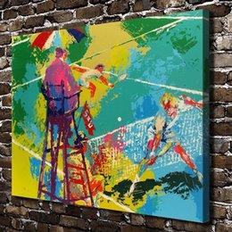 Wholesale US high tech HD Print Oil Painting Wall Decor Art on Canvas Unframed Tennis Ace x16inch