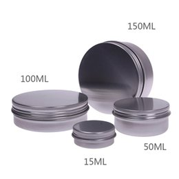 Wholesale 15ML Makeup Aluminium Jar Tin Pot Nail Art Lip Gloss Empty Cosmetic Container Screw Thread Maquillage