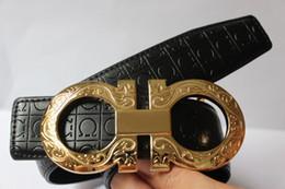 Wholesale Hot new designer belts men high quality big buckle Fashion belt metal buckle genuine leather f belt male strap mens belts luxury for gift