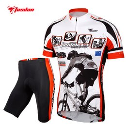 Tasdan Summer Cycling Jerseys Sets Mens Cycling Jersey and Shorts Outdoor Sports Bicycle Clothing Suit for Mens