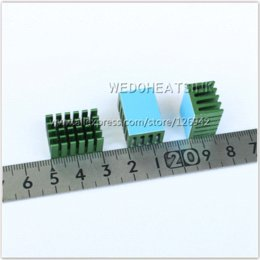 Wholesale x14x11mm Aluminum Network Routers Chip Heat Sinks Green Anodize Radiator Cooler With Thermal Pad