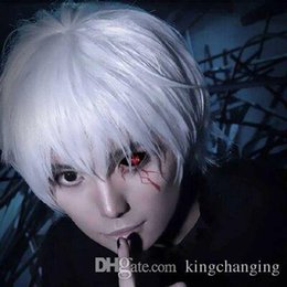 Wholesale New Holiday Sale Japan Anime Tokyo Ghouls Ken Kaneki Cosplay Wig Synthetic Hair Party Halloween Wigs