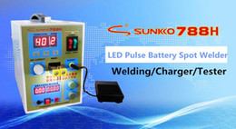 Wholesale 788H Pulse Battery Spot Welder Welding Machine Micro computer Battery Charger A mm V with LED lighting