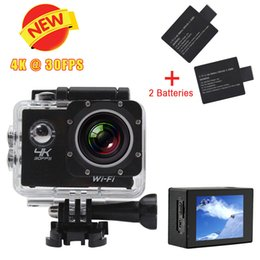Wholesale New K Ultra HD FPS H10 WIFI Sport DV LCD Wifi Action Camera m Waterproof Sport Camera degree Sport Camcorder car dvr