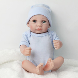 28cm Eye Opend Realistic Reborn Baby Doll Soft Silicone Vinyl Newborn Baby Boy Kids Birthday Gift Toy Nursing Teaching Toys