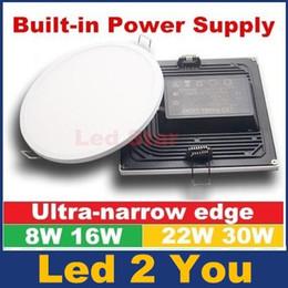 Скидка качество панели AC 85-265 8W 16W 22W 30W светодиодные фонари панели лампы CRI85 SMD 4014 высокого качества Светодиодные светильники утопленный Кухня Ванная Теплый / Pure White
