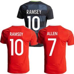 Wholesale 2016 European Cup Wales Jersey Wales Soccer Jerseys ALLEN BALE RAMSEY Football Shirts Men JERSEY Kit Thai Quality